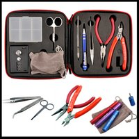 Wholesale Coil master kit The most complete kit diy tool coil winder ceramic tweezer Concepts atomizer coil by DHL free