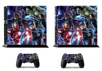 Cheap Avengers 260 Vinly Skin Sticker Protector for Sony PS4 PlayStation 4 and 2 controller skins Stickers Free Shipping