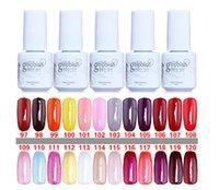 Wholesale 10PCS Gelish Nail Polish UV Gel Soak Off Gel Polish Nail Lacquer Varnish Top Quality Long lasting Colors Color ml