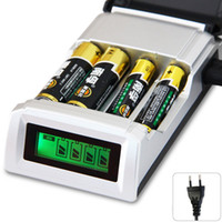 Wholesale C905W C905 Slots Slot LCD Display Smart Intelligent Battery Charger for AA AAA NiCd NiMh Batteries