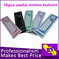 Wholesale-10PCS / LOT 107 llaves plegables flexible impermeable de silicona suave teclado bluetooth 2.4G inalámbrico para tablet PC