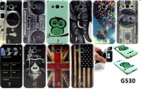Wholesale Cartoon Casing Galaxy Grand - Wholesale-Hot Painted Cartoon Painted Soft TPU Back Cover Case For Samsung Galaxy Grand Prime G530H G530 Gran Prime Duos SM-G530H Case