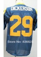 throwback football jersey - Factory Outlet Eric Dickerson Men s Throwback Football Jersey Embroidery and Sewing Logos Size M XL Accept Mix Order