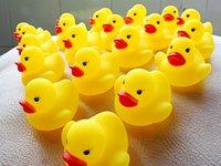 Cheap Wholesale New Yellow Rubber Ducks Baby Bath Toys Bi Bi SoundsToys Kids Children Swiming Beach Toys Promotion Gifts 1000pcs lot