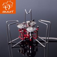 aluminum furnaces - W Portable Three Burners Stove Aluminum amp Stainless Outdoor Camping Split Gas Stove Foldable Butane Furnace BL100 B6 A