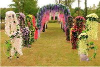 Wholesale hot new artificial Silk Flower Artificial Flower Wisteria Vine Rattan For Valentine s Day Home Garden Hotel Wedding Decoration