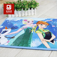 floor pads - 40 color frozen fever cushion carpet mat sofa carpet mat bathroom anti skid pad printed Kitchen Door mat Floor Rug Carpet TOPB3790