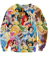 belle jumpers - w151212 Princess Paparazzi Crewneck Sweatshirt Ariel Sleeping Beauty Cinderella Belle Snow White D Pull Women Men Jumper Sweats Tops
