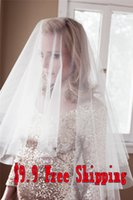 Wholesale 2015 Short Bridal Veil Nice New Design Luxury Wedding Accessories Personalized White One Layer Custom Made Elbow Length Veils Free Ship