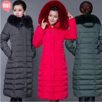 Wholesale HOT Winter jacket women down coat women s down jackets ladies winter coat long women wadded jacket Plus Size XL Long Parka