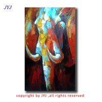 african artists - African Elephant Direct From Artist Hand painted Modern Abstract Oil Painting On Canvas Wall Art Decoration Gift CT088