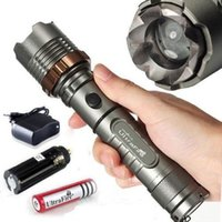 Wholesale Torches LM UltraFire CREE XML T6 LED Rechargeable Flashlight Torch w AC Car Charger Battery