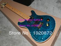 Wholesale New Arrival Blue Custom Shop Electric Guitar Maple fingerboard guitar factory