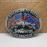 Wholesale Rebel Flag Southern Cowboy Metal Belt Buckle Texas Fashion Mens Western Badge Feathers Native Avengers