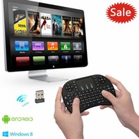 Cheap DHL Free Rii Mini i8 Fly Air Mouse Wireless Mouse Pad Keyboard Touchpad Remote Control For Andriod TV BOX Play Game Black White