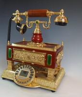 Wholesale Fashion multifunctional caller id telephone antique telephone classical solid wood telephone