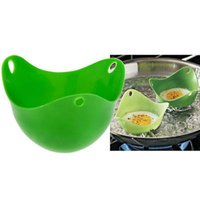 Wholesale Silicone Egg Poacher Cook Poach Pods Kitchen Cookware Poached Baking Cup