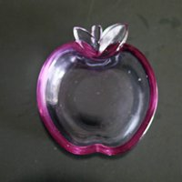 apple dishes - New arrival Colored glass cute apple pear Kitchen table Seasoning supplies Flavored dish seasoning dish Home decoration
