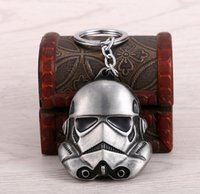 Wholesale MOSU Promotion Hot movie Star Wars Keychain Alloy stormtrooper Mask Metal Key Rings For Women Men Chaveiro can Drop shipping