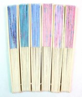 chinese fans - 60X Chinese Silk folding Bamboo Hand Fan Fans Art Handmade Flower Popular Gift