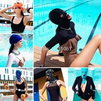 Wholesale Fashion styles Face Bikini Outdoor Swimming Caps Special women swimwear cap Bask UV Face Mask Hat New face mask