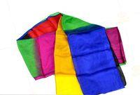 Wholesale M Rainbow Streamer Magic Tricks Colorful Silk Streamer Long Magic Streamer Silk streamer