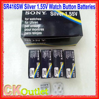 sr416sw - 100 Original SR416SW Silver Oxide V Watch Button Battery Batteries MADE IN JAPAN with Free Gift