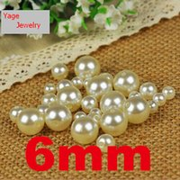 beaded jewelry crafts - 300pcs mm beads White Color craft acrylic beads Imitation Round pearl beads diy loose beads for jewelry accessories