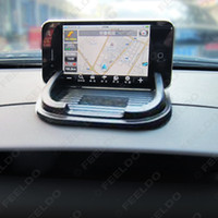 Wholesale 200pcs mm Black Car Holder Mat Anti Slip Pad For Mobile Phone MP4 MP3 Carring Case