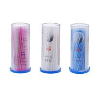 Wholesale 3 colors Eyelash extension lint free micro brushes Eyes care Plasitc Dental Disposable Micro Applicator Brush Bendable