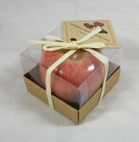 apples favor box - 5pcs wedding favor Tempting Apple Candle in gift Box christmas outdoor decoration Birthday
