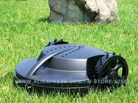 Wholesale Intelligent lawn mower auto grass cutter Lead acid battery auto recharge robot grass cutter garden tool freeshipping