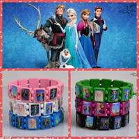 Wholesale NEW FROZEN Jewelry Wood Bracelets Queen Elsa Anna Princess Fashion Girls Children Party Gift