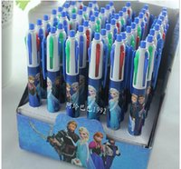 Wholesale blue Box multicolor children frozen Stationery color Ballpoint pen for office shool supplies