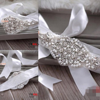 Wholesale New Cheap Bridal Sashes Sexy Wedding Dresses Sash Belts Rhinestone Crystal Beads Pearls Long Vintage Accessories For Party Evening Prom