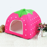 Wholesale Cute Warm Strawberry Bed Pet Puppy Dog Cat Pet Waterloo Pet Nest cm