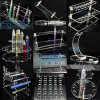 acrylic display stand - Acrylic display stand for ecig e cigarette stand shelf holder rack for battery mod atomizer drip tips eliquid bottle e cig displays free DHL