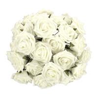Wholesale New Rose Folowers DIY Wedding Bride Artificial Colourfast Foam Flower Bouquet Party Home Decoration Colors Hot