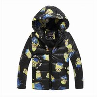Wholesale Retails New Despicable me minions Children Boys Girls Outwear cotton padded coat Jacket Winter Children Baby Down Coat Clothing