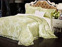 Cheap Cotton bedding,Satin jacquard,Bed Sheet Quilt Bedding 4 sets