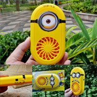 small fans - Despicable Me USB Charging Fans Cartoon Rechargeable Children Small Fan smile big eye minions Portable Fan