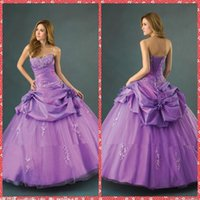 adorn sequin - Purple Sweetheart Appliques Beaded Crystal Ball Gown Quinceanera Dresses Handmade Flowers Adorned Floor Length Custom Special Gowns