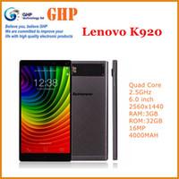 Wholesale 14usd Free Gift Original Lenovo K920 Vibe Z2 Pro Quad core Mobile phone K Screen GB RAM GB ROM MP Camera Dual sim G LTE