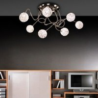 artistic aluminum - aluminum lamp restaurant lights DIY aluminum ball artistic personality living room ceiling lamp bedroom lamp LA2