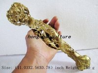 ancient chinese statues - ANCIENT CHINESE BRASS MAGPIES PLUM FLOWER DRAGON RUYI STATUE LM1337