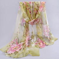 Wholesale Dots hot women peones chiffon georgette silk women s scarves spring autumn summer sun modern hijab style JIA402