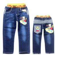 Wholesale Sale Clearance Children s Jeans Denim Trousers Cartoon Boy Jeans Size In Stock Fast Shipping