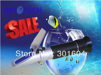 Wholesale pc Hand held Salinity sg aquarium Refractometer RHS ATC