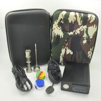portable kit - Portable E Nail Dab Nail Kit Case E Nail D Nai Box Kit PID Temperature Control Box Heater Coil W Domeless Gr2 Titanium Nail Complete Kit