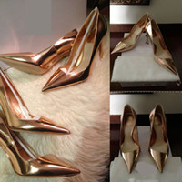 Wholesale 2015 Hot Genuine Leather Kim Kardashian Metal Blade High Heels sexy Women Brand Shoes more colors Hoof Heels